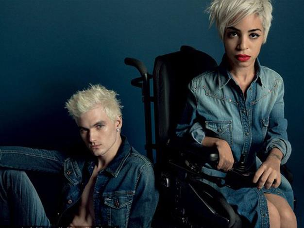 Jillian Mercado is proud of her wheelchair and wanted it to feature prominently in the shot.