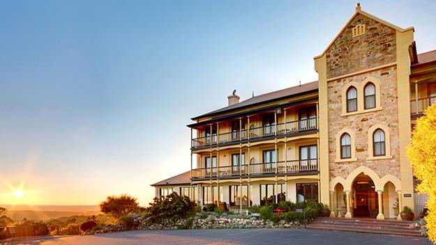 The stunningly situated Mount Lofty House.