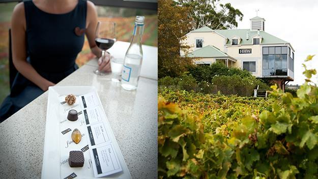 The chocovino experience at Hahndorf Hill Winery.