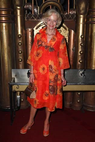 Having fun in floral again at the opening of Circus Oz in 2012