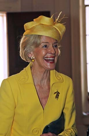 Ms Bryce is not afraid of wearing bright, bold colours, including yellow
