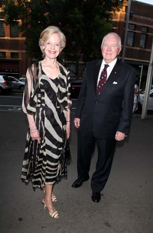 Ms Bryce wore zebra print for a night at the theatre with husband Michael in 2010