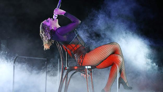 Beyonce at the Grammy's 2014