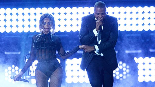 Beyonce and Jay-Z at the 2014 Grammy's