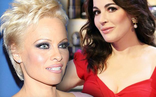 Pamela Anderson and Nigella Lawson