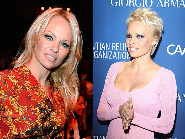 But Pamela Anderson absolutely shocked by trading in her career-long Barbie-like mane for a pixie haircut. Photos: Getty Images