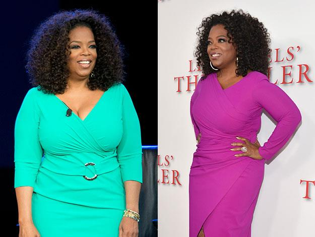 Known for her dramatic weight loss regimes, Oprah has undergone several whole-body makeovers. Photos: Getty Images