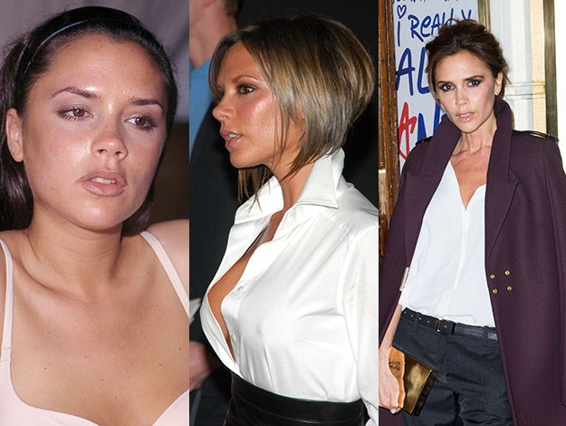 Victoria Beckham's weight, hair and style have drawn attention for more than a decade. Photos: Getty Images