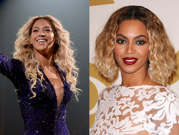Beyoncé surprised everyone when she chopped off her hair, totally changing her look. Photos: Getty Images