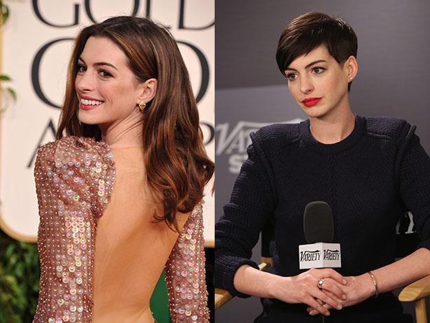 Unlike most, Anne Hathaway has stuck with her short cut as a more permanent change. Photos: Getty Images