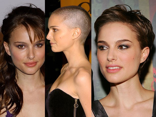 Proving nothing is permanent, Natalie Portman is a master of the dramatic makeover. Photos: Getty Images