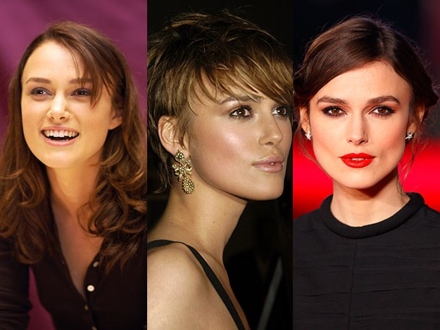 Keira Knightley's is a fan of mixing up her looks. Photos: Getty Images