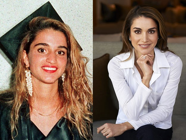 From graduation day to royalty - Queen Rania of Jordan.