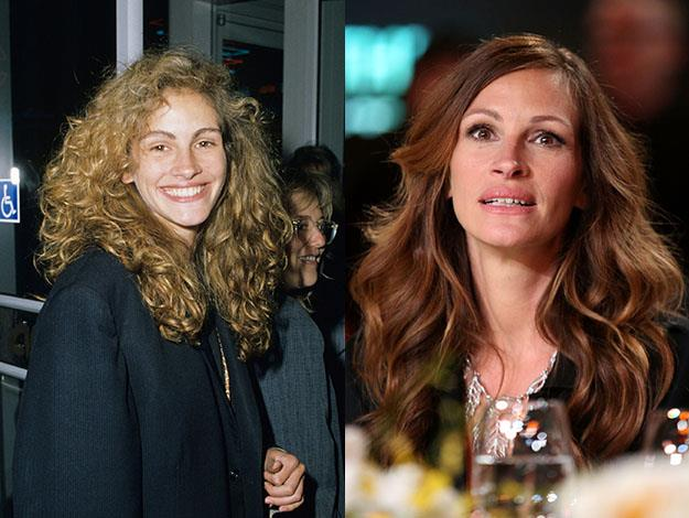 Julia Roberts has opted for gradual changes. Photos: Getty Images