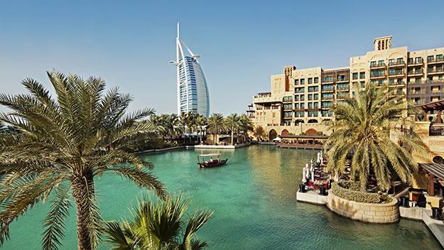 Dubai harbor and hotel