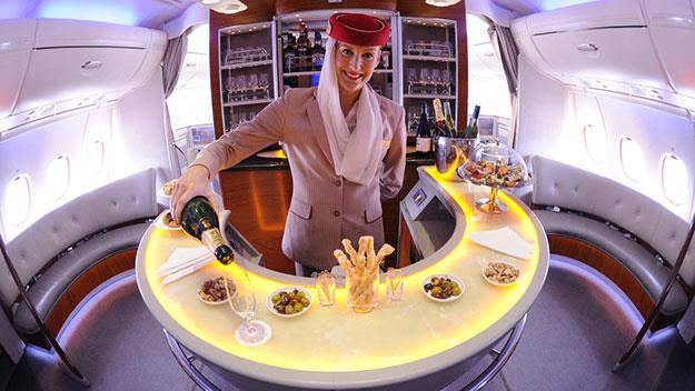 Service on Emirates at the pointy end of the plane is faultless, but down on the ground it's a different story.