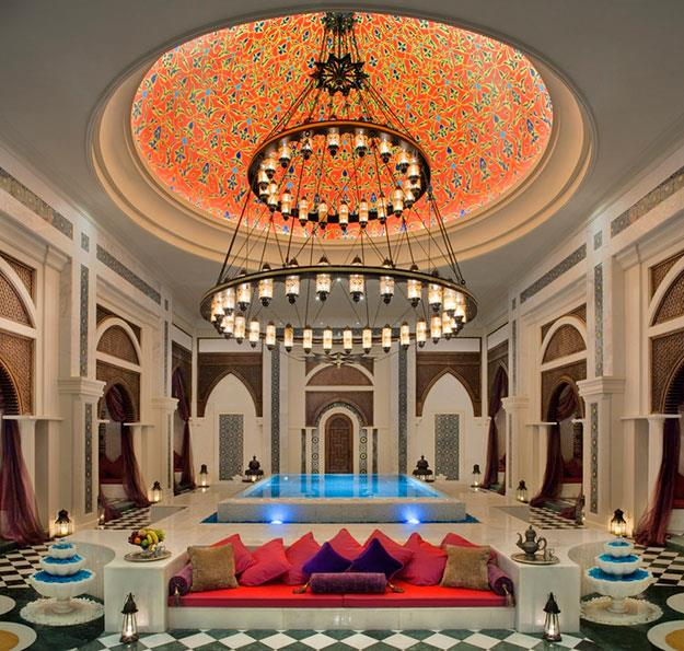 The Zabeel Saray's in-house spa is a long-distance traveller's haven.