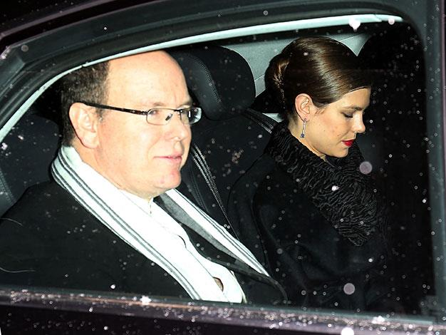 Prince Albert of Monaco arriving at the nuptials.