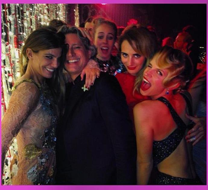 Bianca Brandolini (left), Eugenie Niarchos (right) and friends. Photo: Instagram
