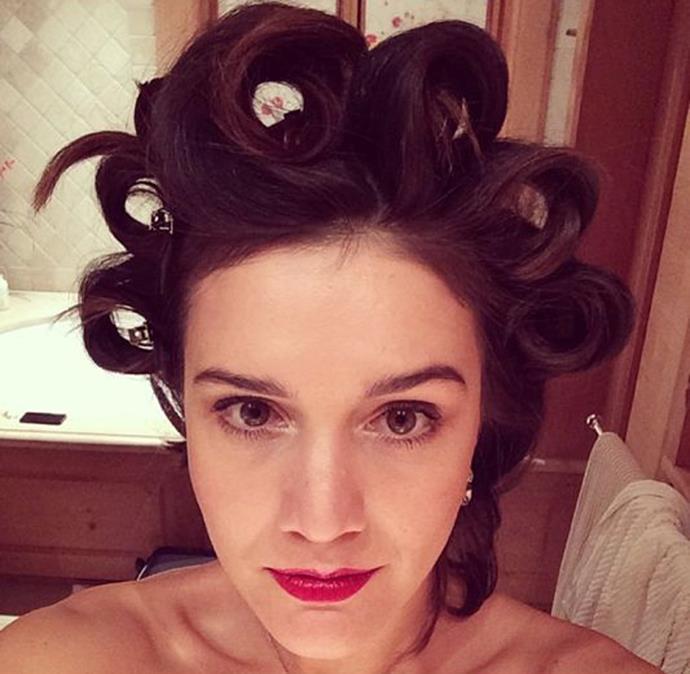 Fashion heiress Margherita Missoni gets ready for the Saturday night wedding. Photo: Instagram