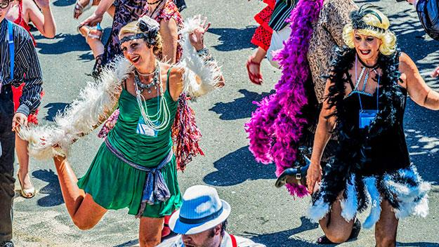 Charleston dancing in the street