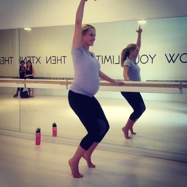 Teresa has been keeping fit and active throughout her pregnancy.