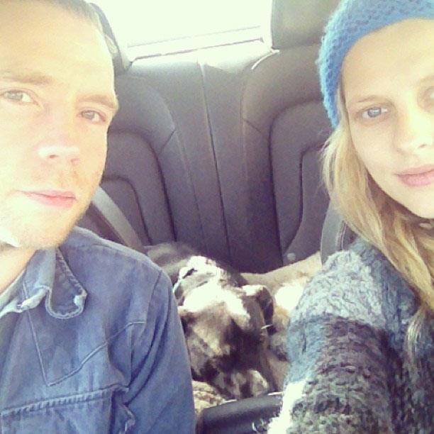 Teresa, Mark and their dog on their 'baby-moon' last year.