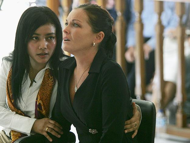 Schapelle reacts as she hears that she is sentenced to 20 years in jail. Photo: Getty Images