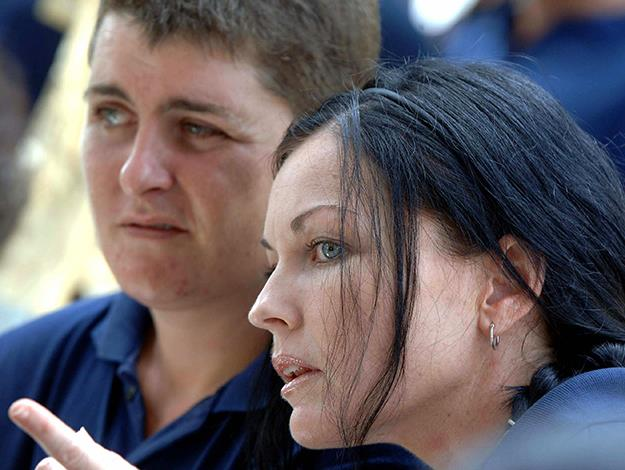 With Renee Lawrence of the Bali Nine. Photo: AFP/Getty Images