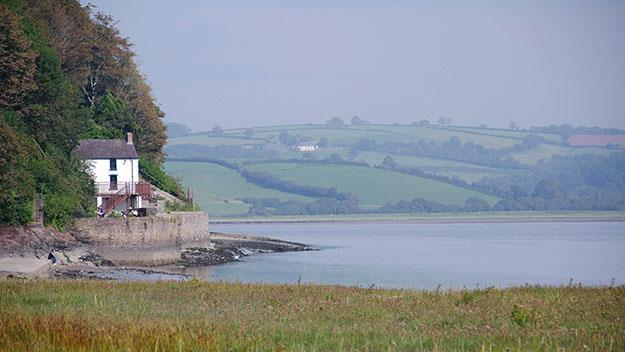The Boat House, Dylan Thomas' home, on the River Taf estuary, Laugharne.