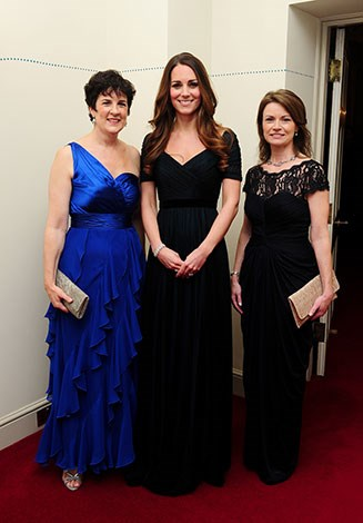 Kate wore the same gown at last November's Women in Hedge Funds gala at Kensington Palace.