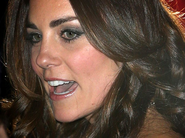 Kate's famous tresses were back to their shiny best at the event.