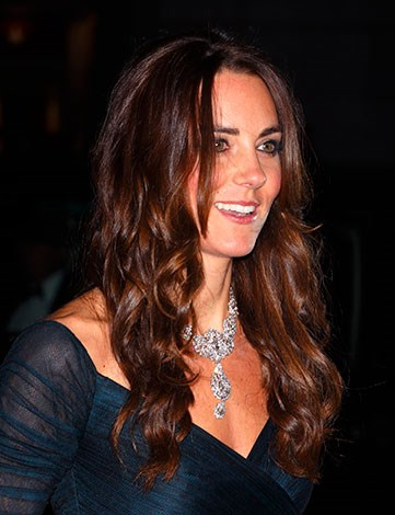 Kate was still sporting a deep tan from her recent Caribbean holiday.