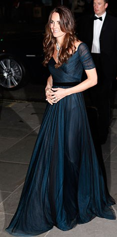 Fans and paparazzi braved the cold to catch a glimpse of Kate and weren't disappointed - she looked stunning.