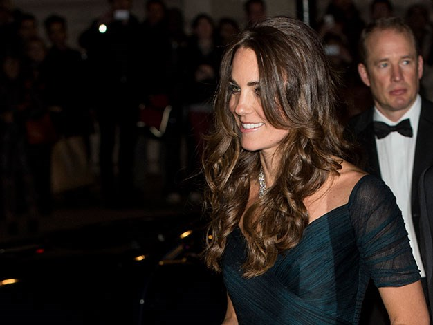 Kate left George at home with his dad for a night out at her favourite gallery.