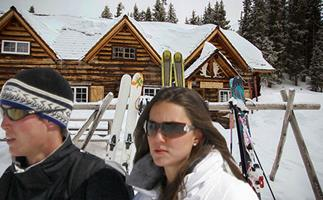 Prince William and Kate Middleton skii