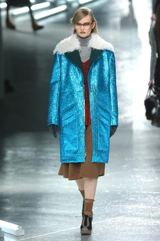 Blue steel: This coat was a showstopper.