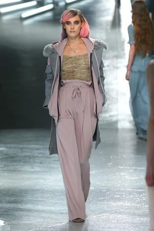 High-waisted pants found themselves wandering down the runway to a welcome reception.