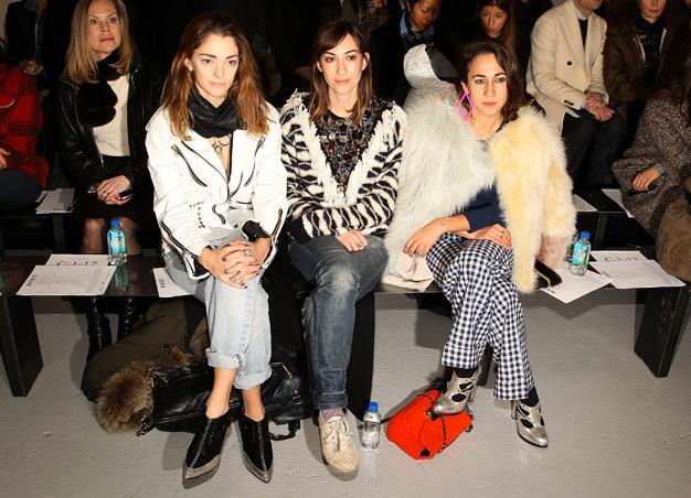 Sofia Sanchez, Gia Coppola, and Delfina Delettrez Fendi all attend the Rodarte show.