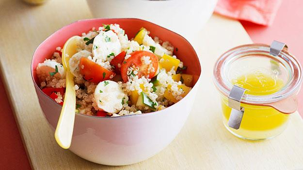 "**[Italian-style quinoa salad](https://www.womensweeklyfood.com.au/recipes/italian-style-quinoa-salad-25004|target=""_blank"")**  The popular superfood quinoa dives in to save lunch yet again with this Italian style salad. Filled with tomatoes, capsicum, boccincini and a zesty dressing your taste buds and stomach will be thanking you."