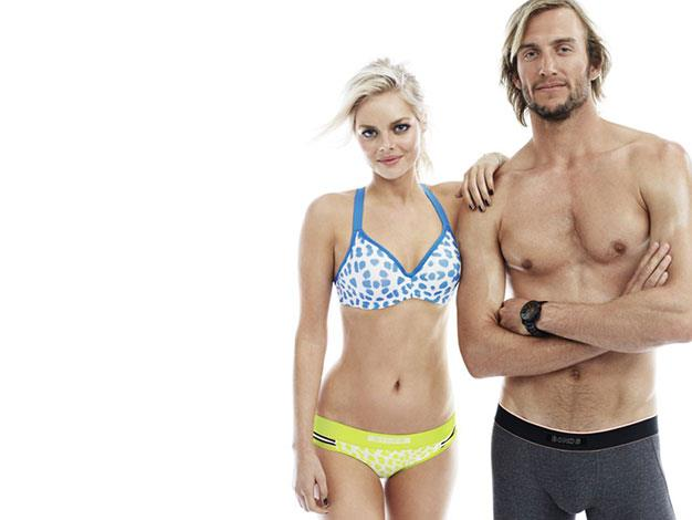 Samara Weaving and Owen Wright are the stars of Bonds first campaign for 2014.