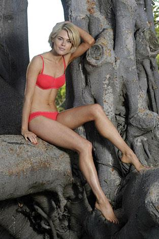 Aussie actress Racheal Taylor has also modelled for Bonds.