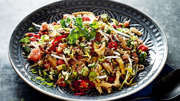 """**[Paleo cauliflower fried rice](https://www.womensweeklyfood.com.au/recipes/cauliflower-fried-rice-24992 target=""""_blank"""")**  Cutting out carbs just got a whole lot easier with this modern take on the Chinese classic, blitzing up cauliflower in place of the rice. It's just as filling and flavoursome, minus the grains."""