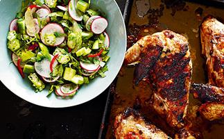 Lebanese chicken with radish salad