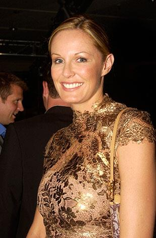 Charlotte looking stunning at the David Jones winter fashion show in 2003.