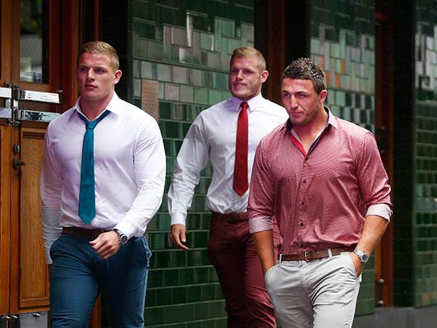 Rugby League players George, Sam and Tom Burgess.