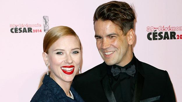 Scarlett Johansson and her fiancé Romain Dauriac.