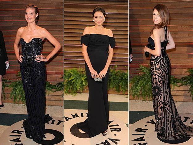 Heidi Klum, Emma Heming and Anna Kendrick. Photos: Getty Images