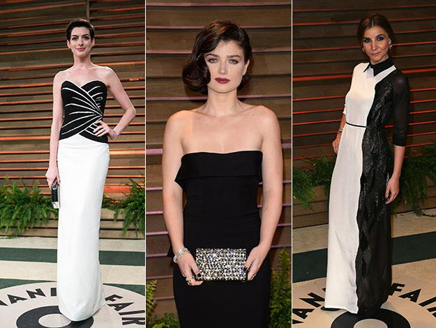 Anne Hathaway, Eve Hewson and Clotilde Courau. Photos: Getty Images