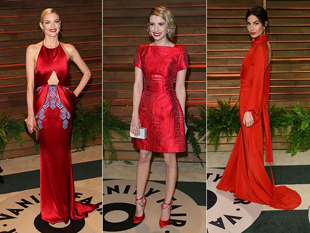 Jaime King, Emma Roberts and Lily Aldridge. Photos: Getty Images